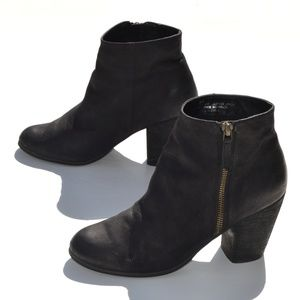 BP Black Leather Ankle Bootie Size 8M